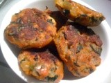 Keerai Cutlet ( Spinach Cutlet)