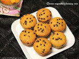 Mango and Chocolate chips Muffin – Egg less Mango and Chocolate chips Muffin