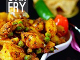 How To Make Aloo Matar Dry Sabji | Sookha Aloo Matar Recipe | Potato Peas Stir Fry