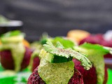 Roasted Beetroot Falafel Recipe With Green Tahini Dip | Beet Falafel Recipe For Lunch