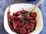 Beetroot cooked in almond based masala gravy