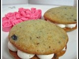 Blueberry and Sour Cream Whoopie Pies