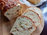 Spring Onion Sausage Cheese Bread Loaf 青葱香肠起司面包