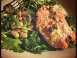 Grilled Salmon with White Beans and Arugula Salad Plus mvk's *Like* of the Week