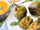 Stuffed Peppers/ Indian Bharwan Shimla Mirch