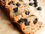Vegan Blueberry Banana Bread with Oats