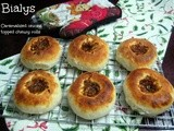 Bialys | bee-ah-lee (chewy rolls topped with caramelized onions)