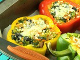 Stuffed Bell Pepper Veg Bowl | Healthy Capsicum Rice Bowl | One Pot Meal