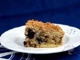 Blueberry Streusel Coffee Cake ~ 蓝莓细末蛋糕