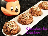 Crunchiest Chocolate Rice Crackers- a perfect treat for the kids