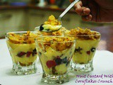 Fruit Custard With Cornflakes Crunch