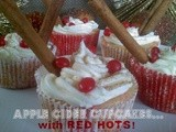 ~Apple Cider Cupcakes..with Red Hots