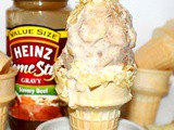 ~Brown Gravy Ice Cream… with potato chip cone
