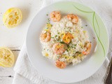 Creamy lemon risotto with shrimps