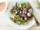Sauteed red cabbage and blue cheese salad