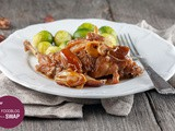 Slow-cooked rabbit with dates and beer
