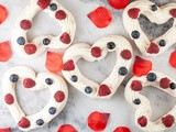 Valentine's pavlovas with red fruits