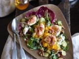 Fig salad with caramelised oranges & blue cheese | Cookbook recipe