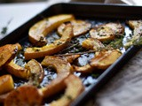 Roasted Pumpkin with Sea salt & Cinnamon, Thyme & Olive oil | a Halloween treat |