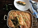 Spanakopita | Greek spinach pie with feta cheese