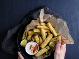 Chickpea Fries with Yogurt-Tahini Sauce