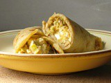 Buckwheat crepes with squash and chestnuts