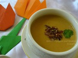 Almond Pumpkin and Shallots Soup (Vegan recipe)
