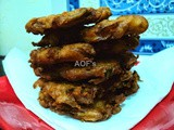 Badaa Piaji ( Twice Fried Onion Fritters from Odisha )