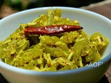 Chachindra Raee ( Snake gourd cooked in mustard paste )