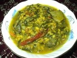 Chana Sagaa Tarkari ( Green Channa Leaves Curry )