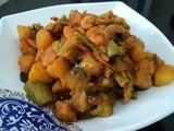 Chingudi Mahura/Chingudi Ghanta ( Prawns and mixed vegetables curry )