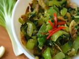 Garlicky Bok-Choy with Dried Shrimp