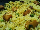 Gatta Pulao ( No onion No garlic version )