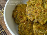 Kadali Bhanda Bara (Plantain Flower Fritters with Oats)