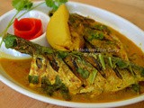 Mackarel Fish Curry ( With Mustard paste and dried mango )