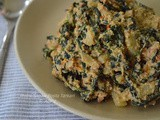 Methi Sagaw Tarkari ( Fenugreek leaves cooked with poppy seeds )