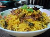 Mushroom Biryani ( Celebrating my 400th post )