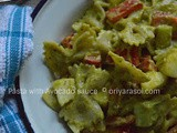 Pasta Salad with Avocado-Honey-Mustard-Lime Sauce