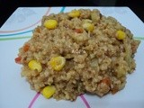 Vegetable Daliya ( Vegetables with cracked wheat )