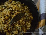Zero Oil Spinach and Lentil Pulao