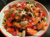 Black eyed Bean Salad with Walnuts, Pomegranates; Borulce Salatasi