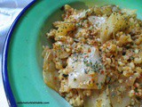 Cabbage with bulgur, ground meat,spices; Bulgurlu Lahana Kapuska