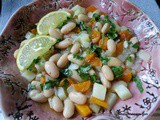 Fasulye Pilaki; White Beans Cooked in Olive Oil with Vegetables