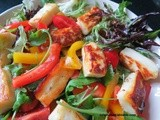 Halloumi Salad with peppers and tomatoes – Hellim Peynirli Salata