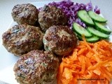 Homemade Turkish Meatballs, Kofte 101 & Grated Carrot & Red Cabbage Salad