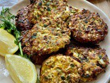 Leek fritters with cheese and herbs; Pirasa Mucveri and Pide Online Cookery Class