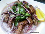Sautéed Liver with Red Onion, Parsley and Sumac Salad; Ciger Tava