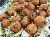 Spiced bulgur balls over garlic yoghurt with spinach – Arap Koftesi and more
