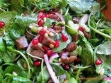 Spinach Salad with Pomegranate Seeds and Chestnuts & My Turkish Cooking Classes in Surrey & Istanbul in February