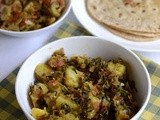 Aloo Methi Sabzi-Aloo Methi Curry Recipe-Potato with fenugreek leaves